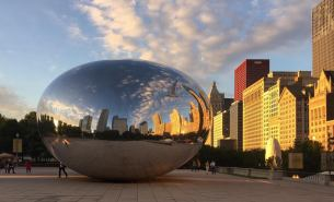 Reflecting on another beautiful day in Chicago.